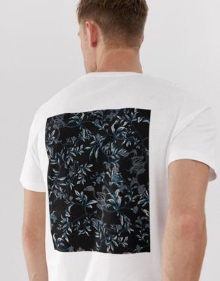 Bild 1 von Jack & Jones – Hochwertiges, weißes T-Shirt mit rückseitigem Aufdruck