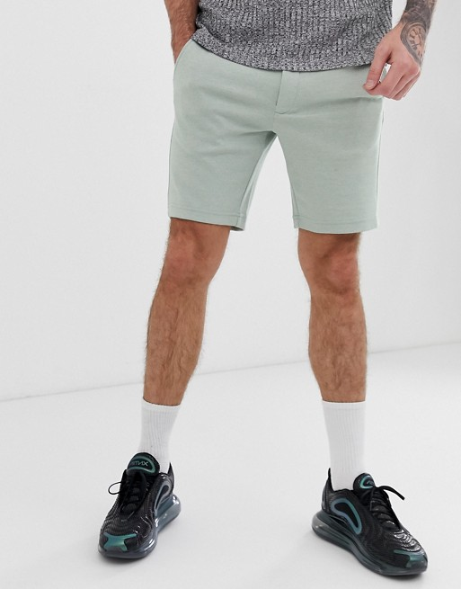 Bild 1 von Jack & Jones intelligence – Elegante Pikee-Shorts in Grün