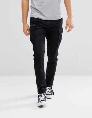 Jack & Jones Intelligence - Pantaloni cargo con coulisse sulle gambe