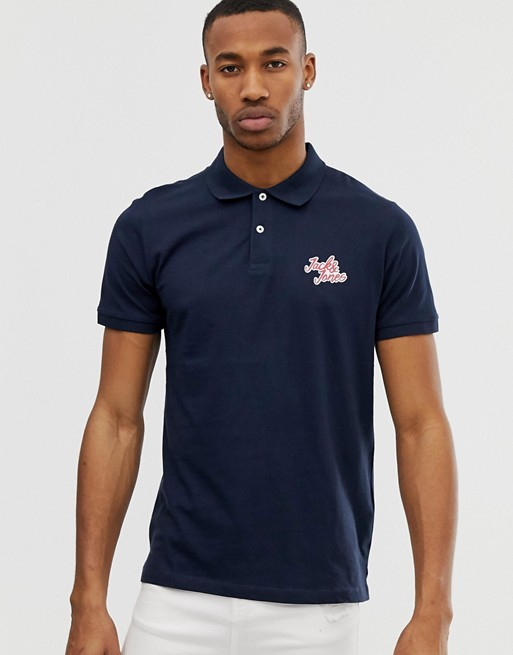 Image 1 of Jack & Jones logo polo