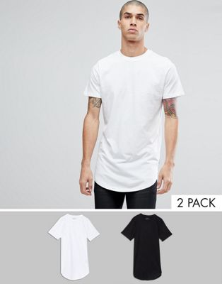 Image 1 of Jack & Jones Originals 2 Pack Longline T-Shirt SAVE