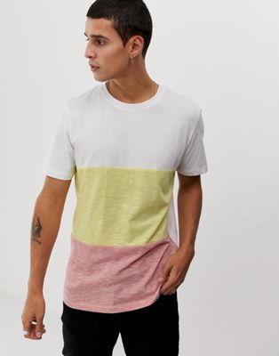 Image 1 of Jack & Jones Originals color block marl t-shirt in white