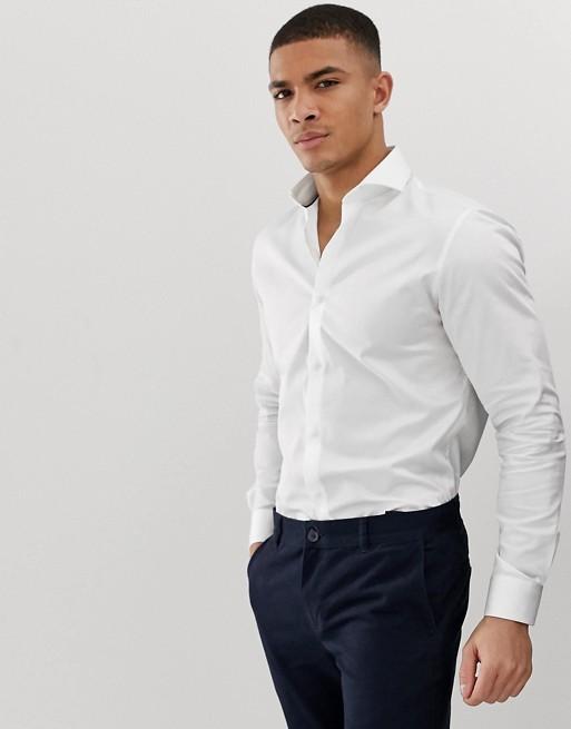Bild 1 von Jack & Jones – Premium – Elegantes Stretch-Hemd in Weiß