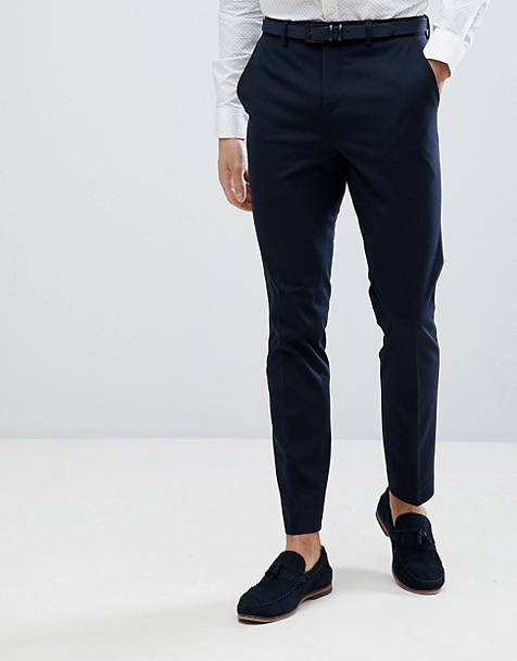 Jack & Jones Premium slim fit suit trousers in navy