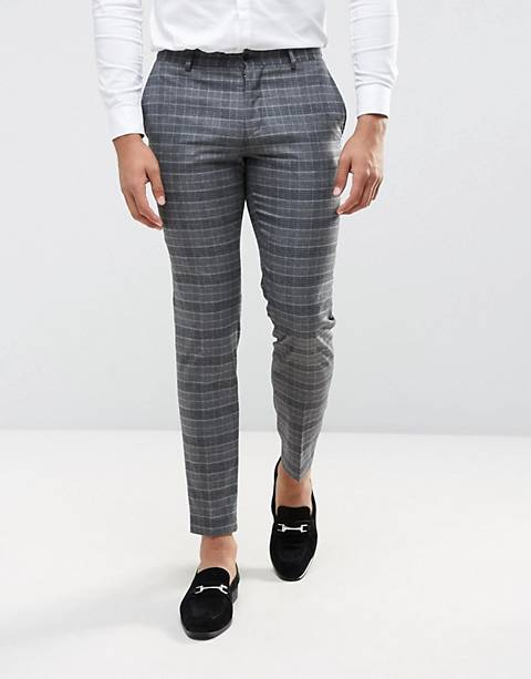 Jack & Jones Premium Slim Wedding Suit Pant in Check