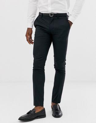 Jack & Jones - Premium - Super slim-fit pantalon in zwart