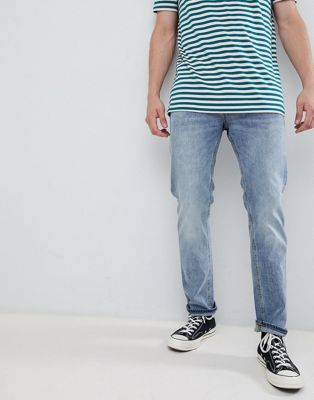Jack & Jones regular fit jeans in mid blue denim