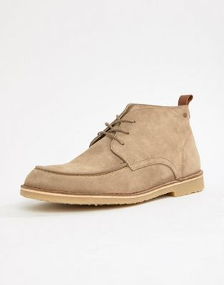 Jack & Jones suede lace up boots