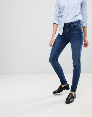 Jack Wills Fernham Mid Rise Super Skinny Jean In Indigo Wash