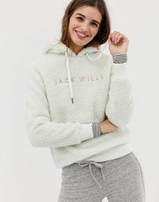 Image 1 of Jack Wills fleece hoodie with embroidered logo