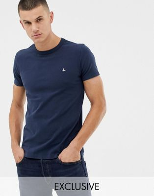 Image 1 of Jack Wills Landrier muscle fit t-shirt in navy Exclusive at ASOS