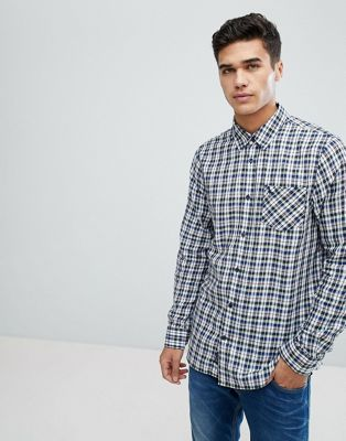 Image 1 of Jack Wills Salcombe lightweight flannel check shirt