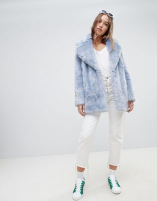 Image 1 of Jakke mid length faux fur coat
