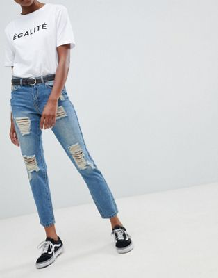 jdy Boyfriend Jean with Rips