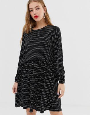 JDY polka dot smock dress