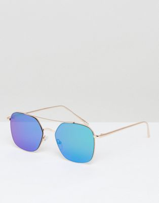 Jeeper Peepers Aviator Sunglasses With Green Lens