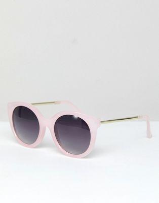 Jeepers Peepers - Occhiali da sole a occhi di gatto rosa