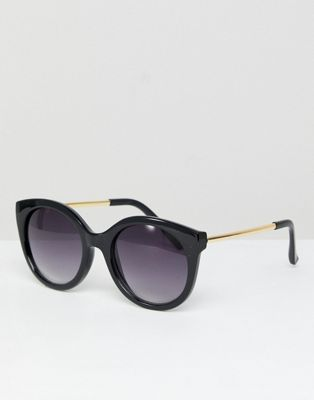 Jeepers Peepers Oversized Cat Eye Sunglasses In Black