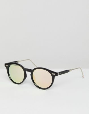 Jeepers Peepers Round Sunglasses In Black