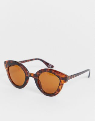 Jeepers Peepers round sunglasses in tort