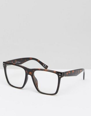 Jeepers Peepers Square Clear Lens Glasses In Tort