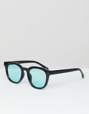 Jeepers Peepers Square Sunglasses With Blue Tinted Lens