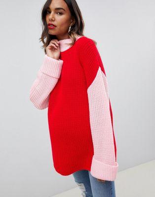Jersey holgado con diseño colour block Bloom de Glamorous