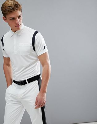 J.Lindeberg - Golf Dolph - Slim-fit TX Jersey poloshirt in wit