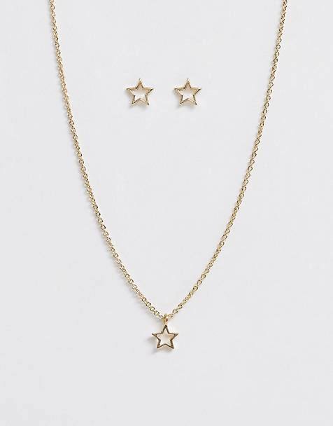 Johnny Loves Rosie christmas star necklace and earring gift set