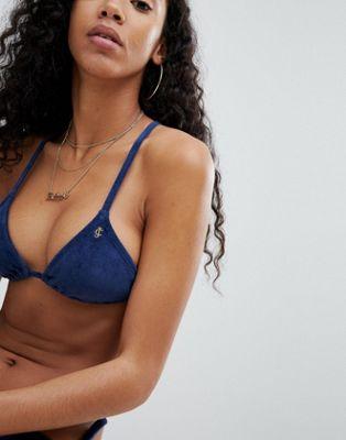 Juicy Couture – Bikinioberteil in Samtoptik
