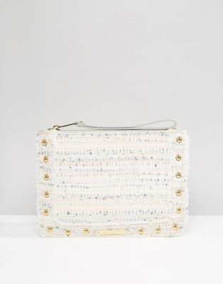 Juicy Couture - Pochette zippée en tweed