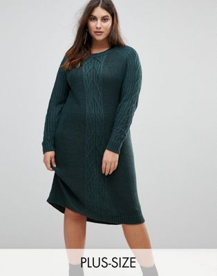 Junarose Cable Knit Jumper Dress