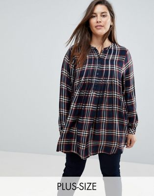 Junarose Check Shirt Dress