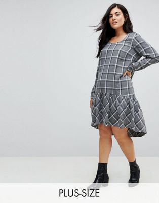 Junarose Check Smock Dress