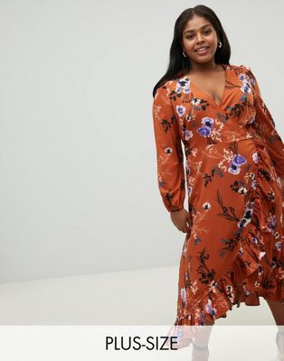 Image 1 of Junarose floral wrap dress