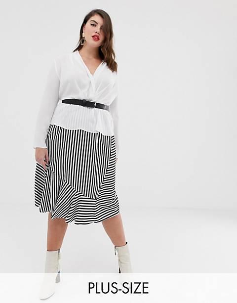 Junarose stripe midi skirt