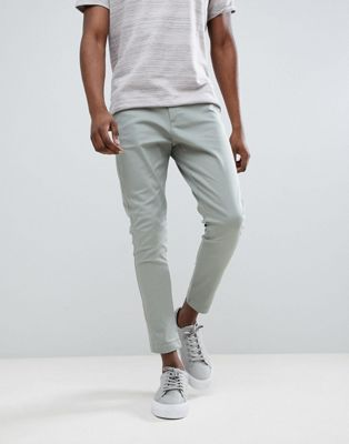Just Junkies Elastic Back Turn Up Chino Trousers