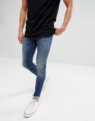 Just Junkies Max Slim Fit Jeans in Mid Wash