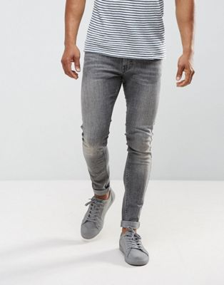 Just Junkies mAX sUPER Skinny Jeans In Grey Wash