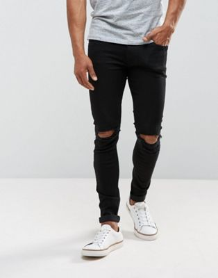 Just Junkies Max Super Skinny Jeans With Knee Rips