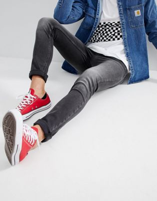 Just Junkies Skinny Jeans In Gray Wash