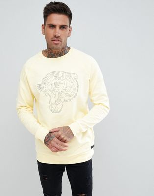 Just Junkies Tiger Embroidery Sweatshirt
