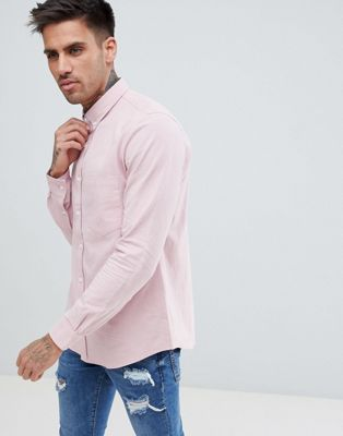 Just Junkies Washed Button Down Cotton Long Sleeve Shirt
