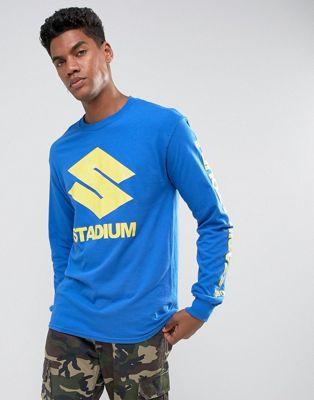 Justin Bieber Stadium Tour Long Sleeve T-Shirt In Blue