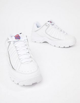 K-Swiss ST529 heritage chunky sole trainers in white