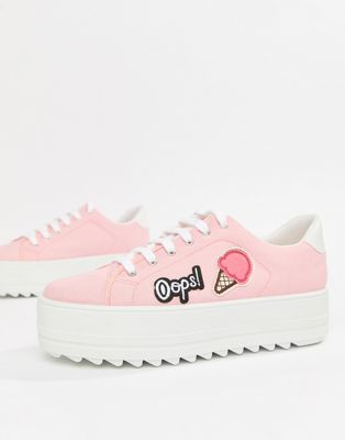 Kaltur Ice Cream Flatform Trainers