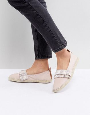 Kaltur Leather Fringed Espadrilles