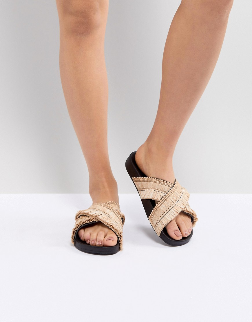 Sandals by Kaltur Sweet looks from the ground up Slip-on style Cross-over straps Flat sole