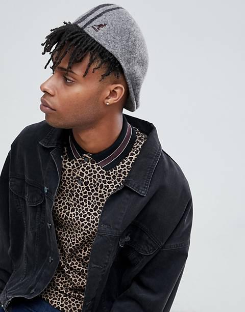 Kangol Identity Stripe 504 flat cap in gray