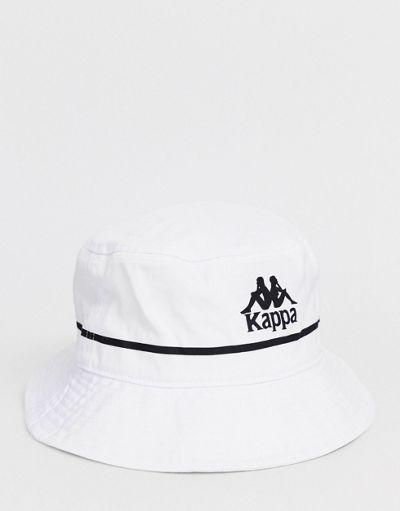 Kappa Authentic Bucket logo bucket hat in white